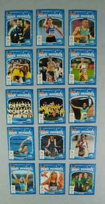 'Aussie Magic Moments' trade cards, official merchandise, 2006 Commonwealth Games, Melbourne; Documents and books; 2013.1.5