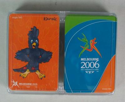 Playing cards, official merchandise, 2006 Commonwealth Games, Melbourne; Games and toys; 2013.1.6