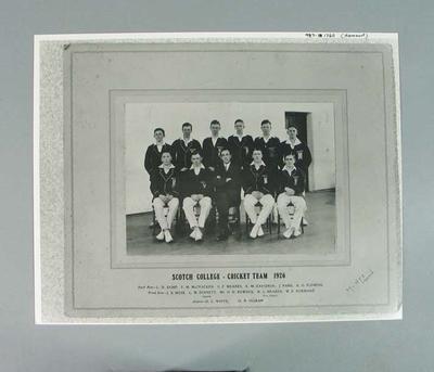 Copy photograph, Scotch College Cricket Team 1926