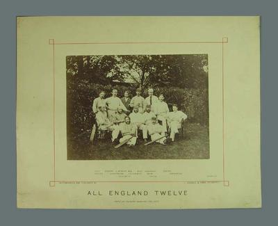 Photograph of All England Twelve, 21 September 1876