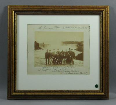 Photograph of Australian Cricketers at Niagara Falls, 1878