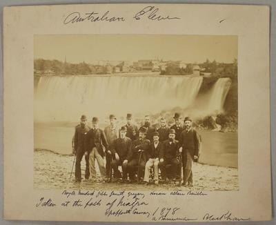 Photograph of Australian Cricketers at Niagara Falls, 1878