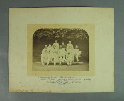 Photograph of Australian XI, 1878