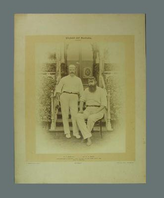 Photograph of W G Grace & W L Murdoch at Sheffield Park, 1890