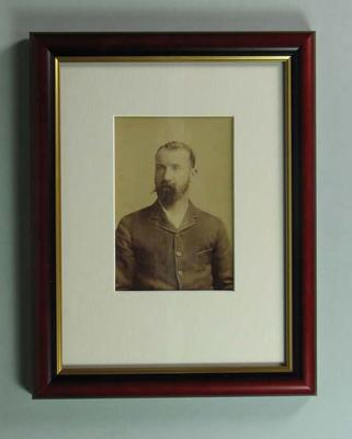 Portrait photograph of John McCarthy Blackham, undated; Photography; Framed; 1988.1905.17