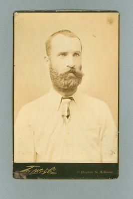Portrait photograph of John McCarthy Blackham, c1880