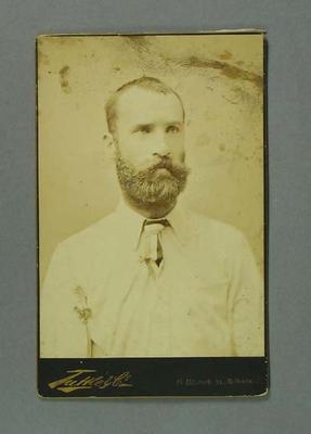 Portrait photograph of John McCarthy Blackham, c 1880