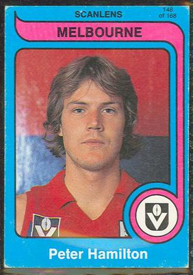 1980 Scanlens (Scanlens) Australian Football Peter Hamilton Trade Card