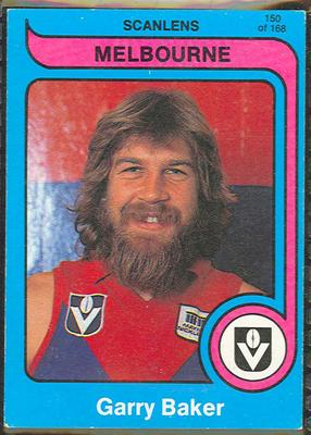 1980 Scanlens (Scanlens) Australian Football Garry Baker Trade Card