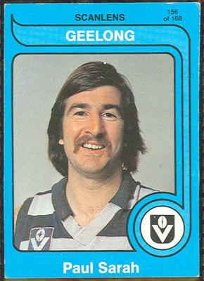 1980 Scanlens (Scanlens) Australian Football Paul Sarah Trade Card
