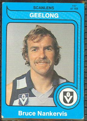 1980 Scanlens (Scanlens) Australian Football Bruce Nankervis Trade Card