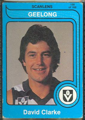 1980 Scanlens (Scanlens) Australian Football David Clarke Trade Card