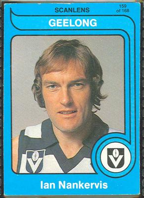 1980 Scanlens (Scanlens) Australian Football Ian Nankervis Trade Card