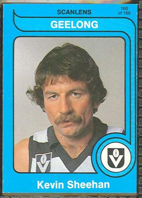 1980 Scanlens (Scanlens) Australian Football Kevin Sheehan Trade Card