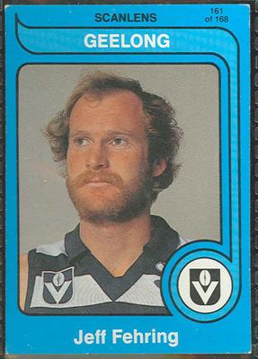 1980 Scanlens (Scanlens) Australian Football Jeff Fehring Trade Card