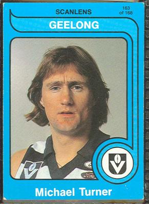 1980 Scanlens (Scanlens) Australian Football Michael Turner Trade Card