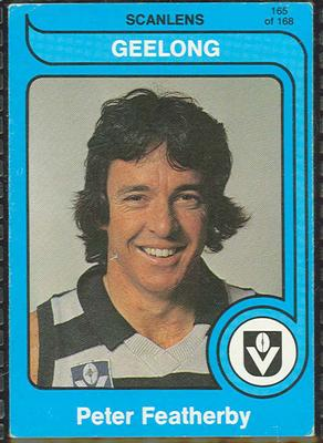 1980 Scanlens (Scanlens) Australian Football Peter Featherby Trade Card