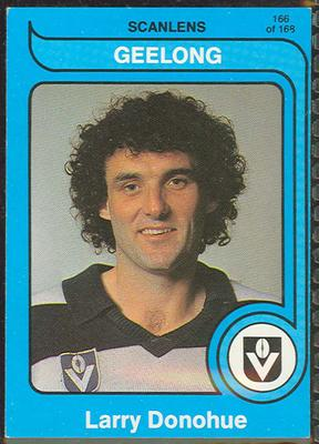 1980 Scanlens (Scanlens) Australian Football Larry Donohue Trade Card