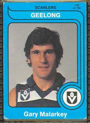 1980 Scanlens (Scanlens) Australian Football Gary Malarkey Trade Card