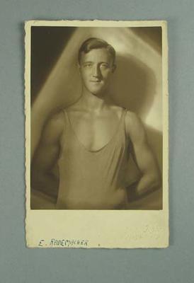 Postcard, image of Erich Rademacher
