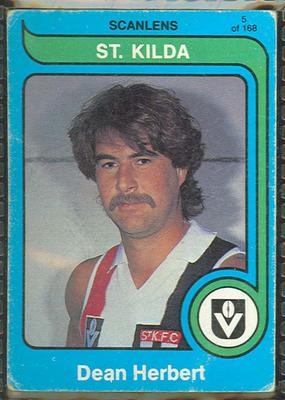 1980 Scanlens (Scanlens) Australian Football Dean Herbert Trade Card