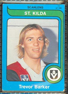 1980 Scanlens (Scanlens) Australian Football Trevor Barker Trade Card