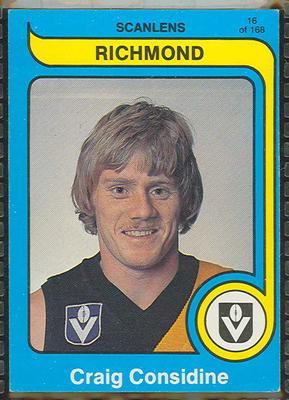 1980 Scanlens (Scanlens) Australian Football Craig Considine Trade Card