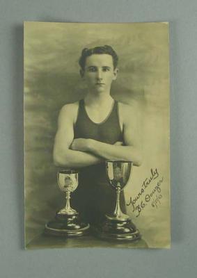 Postcard, image of Burnett C. Douzer - 1910