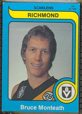 1980 Scanlens (Scanlens) Australian Football Bruce Monteath Trade Card