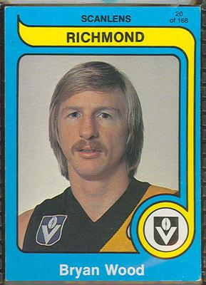 1980 Scanlens (Scanlens) Australian Football Bryan Wood Trade Card