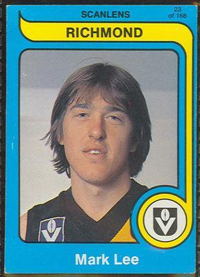 1980 Scanlens (Scanlens) Australian Football Mark Lee Trade Card