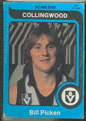1980 Scanlens (Scanlens) Australian Football Bill Picken Trade Card