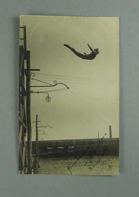 Postcard, image of A G Saunders diving