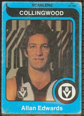 1980 Scanlens (Scanlens) Australian Football Allan Edwards Trade Card