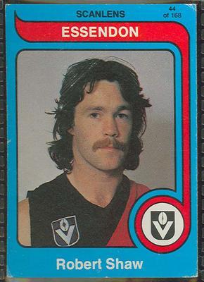 1980 Scanlens (Scanlens) Australian Football Robert Shaw Trade Card