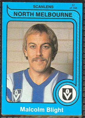 1980 Scanlens (Scanlens) Australian Football Malcolm Blight Trade Card; Documents and books; 1999.3500.83
