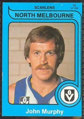 1980 Scanlens (Scanlens) Australian Football John Murphy Trade Card