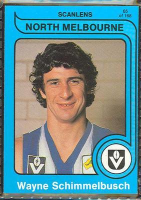 1980 Scanlens (Scanlens) Australian Football Wayne Schimmelbusch Trade Card; Documents and books; 1999.3500.90