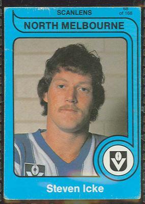 1980 Scanlens (Scanlens) Australian Football Steven Icke Trade Card