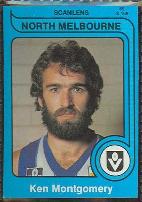 1980 Scanlens (Scanlens) Australian Football Ken Montgomery Trade Card