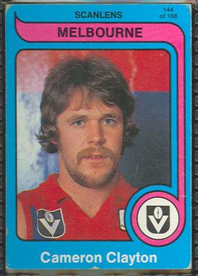 1980 Scanlens (Scanlens) Australian Football Cameron Clayton Trade Card