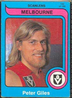1980 Scanlens (Scanlens) Australian Football Peter Giles Trade Card