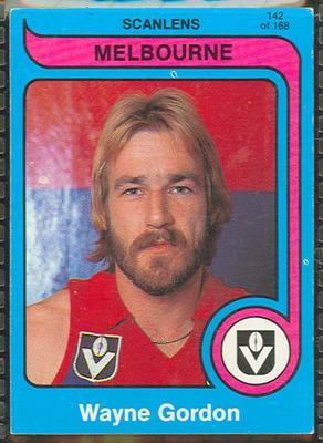 1980 Scanlens (Scanlens) Australian Football Wayne Gordon Trade Card