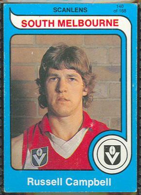 1980 Scanlens (Scanlens) Australian Football Russell Campbell Trade Card