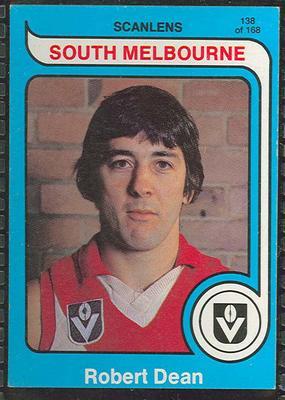 1980 Scanlens (Scanlens) Australian Football Robert Dean Trade Card