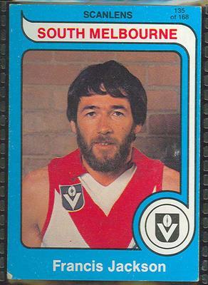 1980 Scanlens (Scanlens) Australian Football Francis Jackson Trade Card