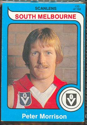 1980 Scanlens (Scanlens) Australian Football Peter Morrison Trade Card