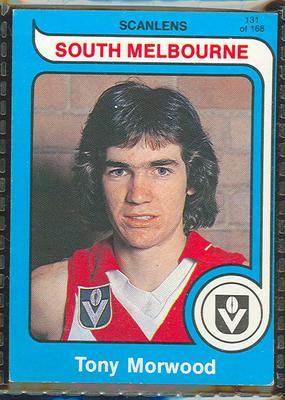 1980 Scanlens (Scanlens) Australian Football Tony Morwood Trade Card