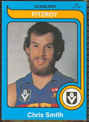 1980 Scanlens (Scanlens) Australian Football Chris Smith Trade Card
