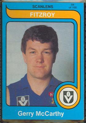 1980 Scanlens (Scanlens) Australian Football Gerry McCarthy Trade Card